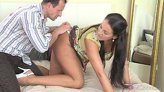 Horny pornstars George, Valentina Velasquez in Incredible Brunette, Big Ass sex scene