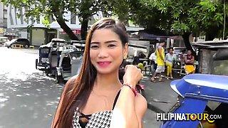 Filipina amateur hooker bends over
