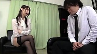 Japanese Stockings Nurse Gives A Hot Blowjob