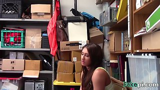 brunette thief davina forced to blow long rod