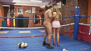 Francessa Felluci gets to ride a handsome boxer's boner