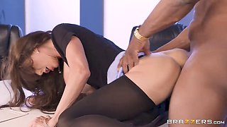 alexis can't help herself when she sees a big black cock