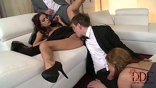 Lovely chick Sophie Lynx takes part in breathtaking orgy