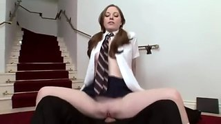 Schoolgirl punished to fuck principal