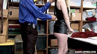 Caught red handed blondie Darcie Belle gets punished mish by lewd cop