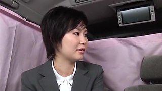 Hottest Japanese slut Mari Hosokawa in Horny Secretary JAV movie