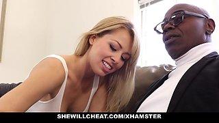 SheWillCheat - Sexy Blonde Girlfriend Fucks BBC For Cuckold