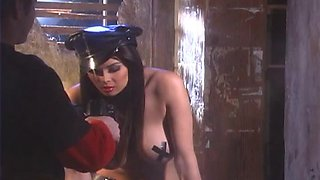 Sexy Tera Patrick poses on camera in police uniform