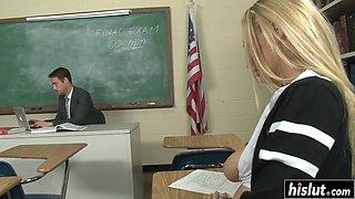 Blonde schoolgirl fucked by the teacher