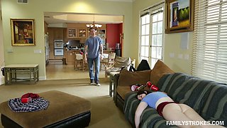 Naughty stepsister Richie hooks up with her perverted stepbrother