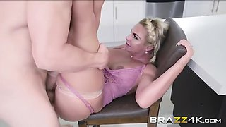 phoenix marie is having a hardcore sex in the kitchen with a big cock