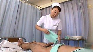 Exotic Japanese model Aya Sakuraba, Yuri Aine, Yu Kawakami in Amazing Nurse JAV movie