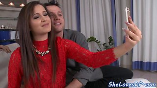 DP loving glamour babe fucked by hard boners
