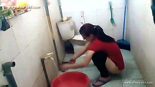 ###ping chinese girl bathing