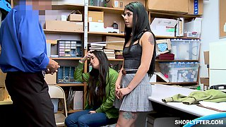Gina Valentina and Mi Ha Doan striped and fucked in the office