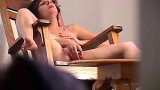Brunette GF Hidden Cam Masturbation