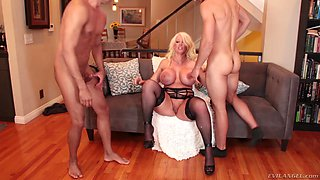 Busty Alura Jenson and a horny guy get to play with a big cock