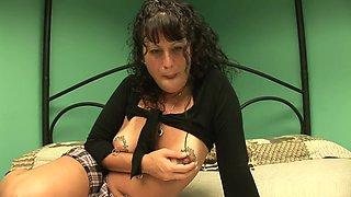 Horny pornstar in best solo girl, piercing porn clip