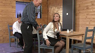 Morgan Moon is a nasty babe who loves a kinky foursome