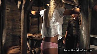 Slaves Homecoming: Schoolgirl Caught And Tied With Chains