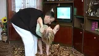 Dad fuck Russian girl at home