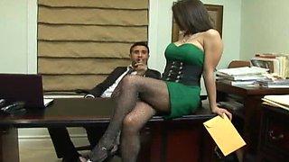 Hot Big tits at work