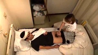 Gorgeous Japanese nurse helps her patient out