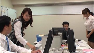 Imai Mayumi is a hot office worker ready for an erected prick