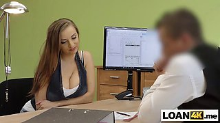 huge tits consumer needs a loan after chrashing husbands car