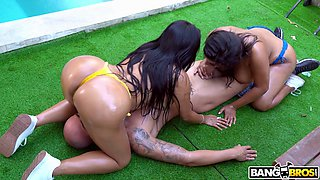 big ass ortega chiquitas learning to share a cock