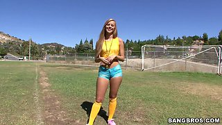 Soccer Blonde Gets Her Pussy Licked
