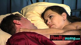 Amazing couple having fun in bed