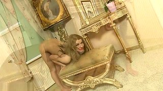Flexible girls doing naked gymnastics. Nude gymnasts expose sweetest spots