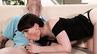 Hot TS Natalie gets banged by pool guys