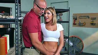Blonde Babe August Ames Blows Big Cock Of Boss