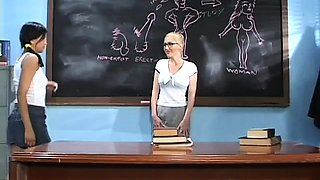 Cute schoolgirl gets her cunt fucked hard by teacher