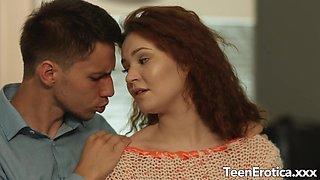 Redhead Teen Shelley Bliss Romantic Anal
