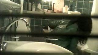 Toilet Spy from Window