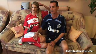 Sporty Father And Stepdaughter Relaxation Sex