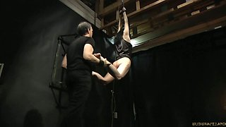 Delicious black haired beauty gets humiliated in kinky BDSM game