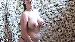 Tiffany - Cute Sexy Big Titty Babe - Shower Time