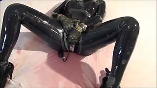 wet game in two layers of latex