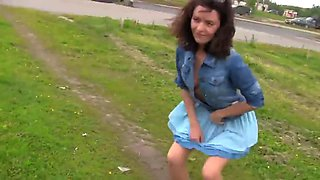 Walking Russian girl