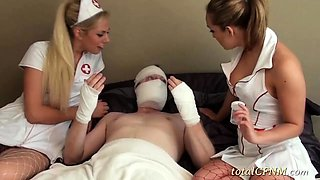 Slutty Nurse Chicks Gave a Blowjob