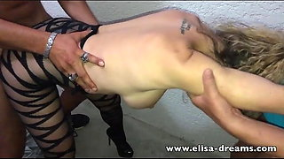 Hotwife gets fucked by 2 voyeurs