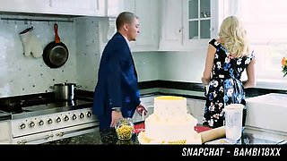 Milf Fucked In The Kitchen HER SNAPCHAT - BAMBI18XX