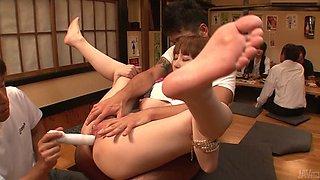 Tasty looking milf Minami Kitagawa gives a head while getting rimjob
