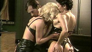 Outstanding pool table threesome with Jamie Summers