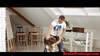 Classy stepsister hard banged in both holes