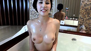 Chinese lady taking a bath - More on SexCamMedia com